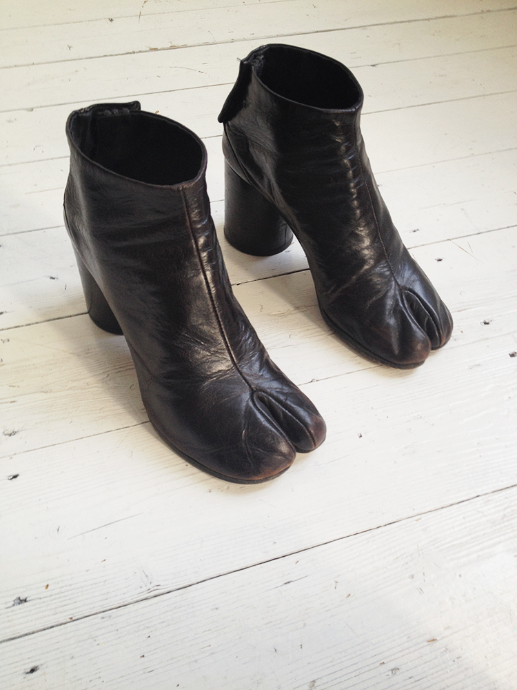Maison martin margiela brown tabi boots fall 1995 39 for Maison de margiela