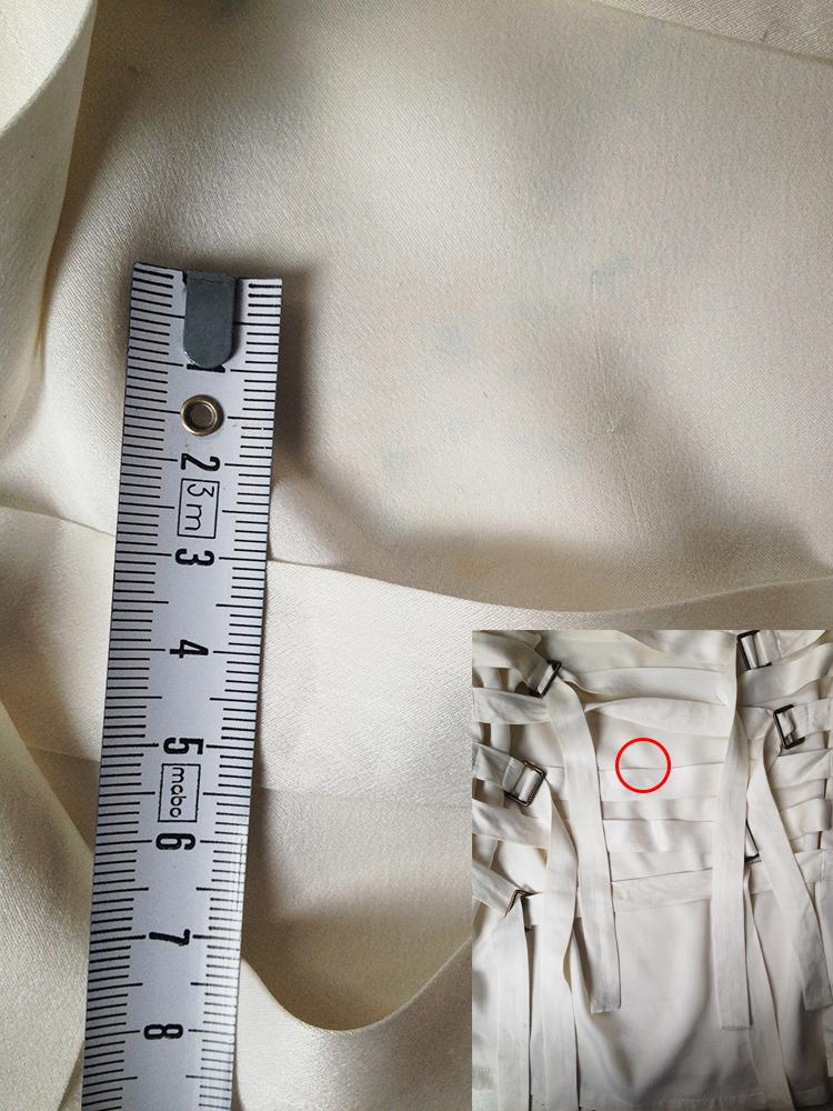 second hand Ann Demeulemeester white bondage strap top — spring 2003