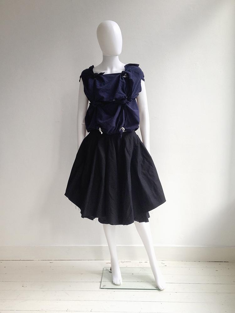Comme des Garçons blue knotted top — spring 2008 | Comme Des Garcons double layered skirt | shop at vaniitas.com
