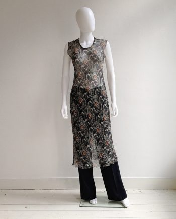 Dries Van Noten sheer dress — spring 1998 | Maison Martin Margiela wide trousers | shop at vaniitas.com