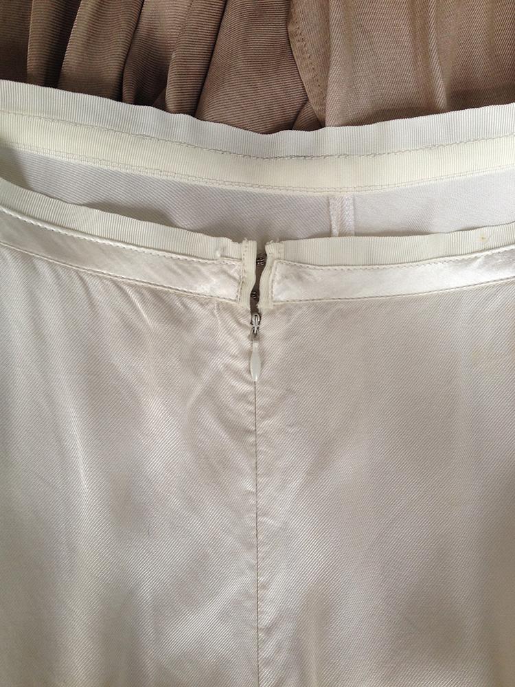 maison+martin+margiela+white+brown+ombre+halter+dress+spring+2003+runway+zipper