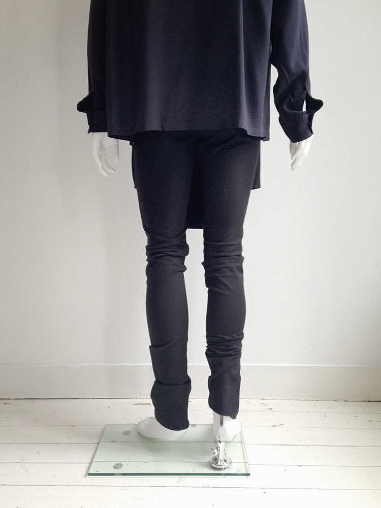 Rad by Rad Hourani black unisex leggings with front panels skirt fall 2012 runway bottom2