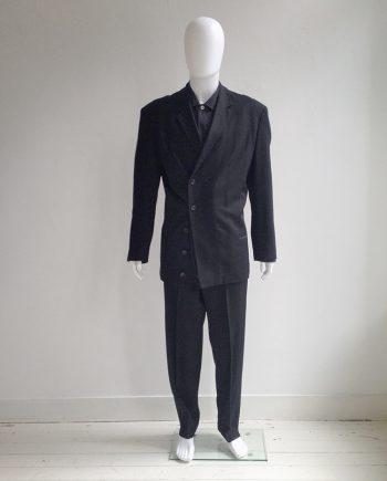 Yohji Yamamoto pour Homme black asymmetric blazer — 80s