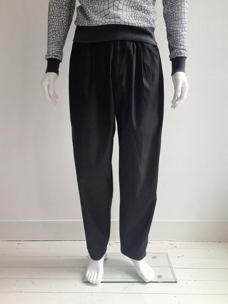 Yohji Yamamoto Pour Homme High Waisted Black Trousers 80s V A N