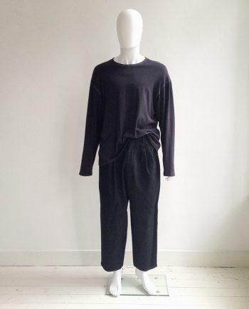 vintage Yohji Yamamoto pour Homme black loose trousers — 80s