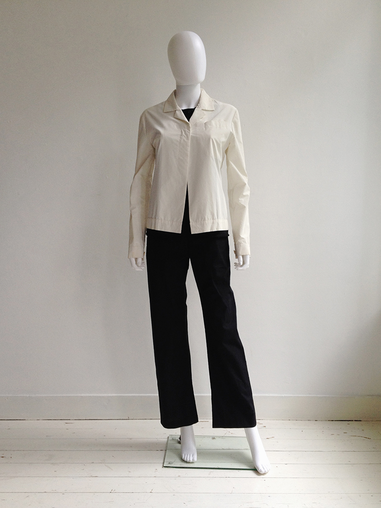 Helmut Lang archive white reflective jacket – fall 1994 | shop at vaniitas.com