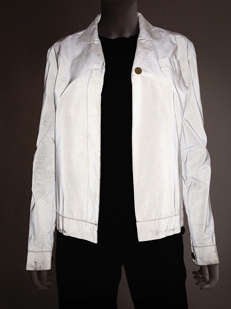 Helmut Lang archive white reflective jacket – fall 1994 -top4