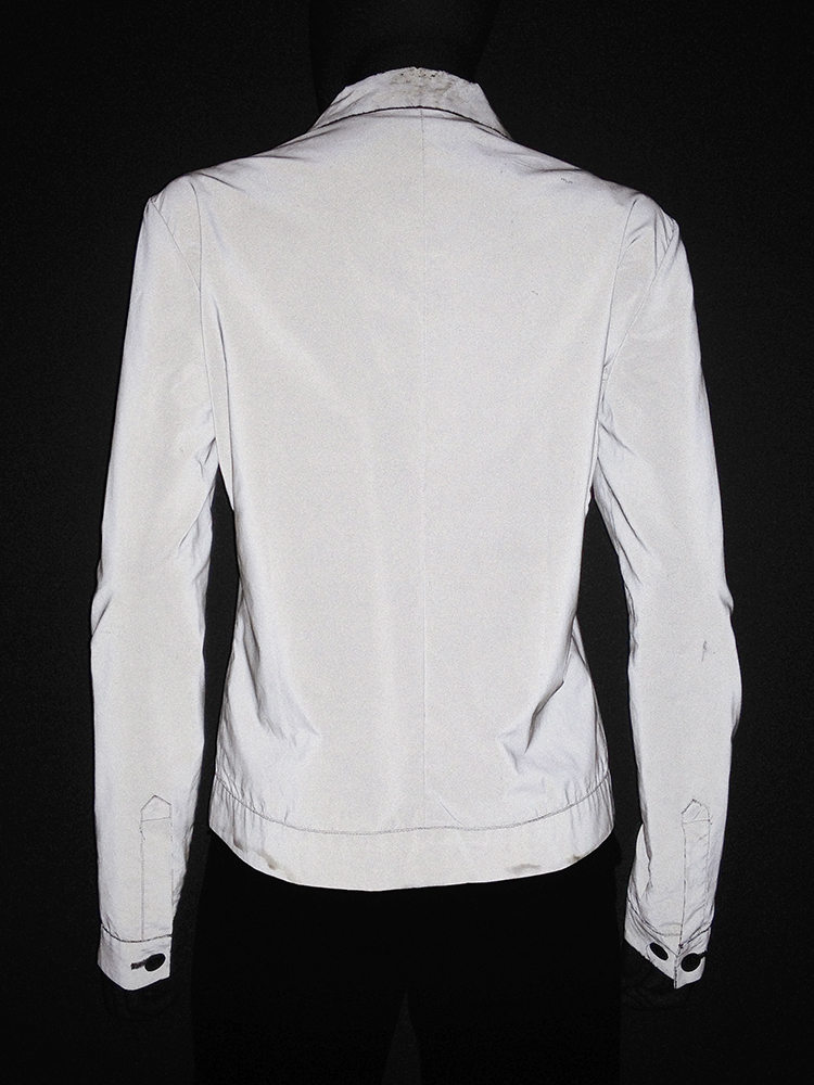 Helmut Lang archive white reflective jacket – fall 1994 -top6