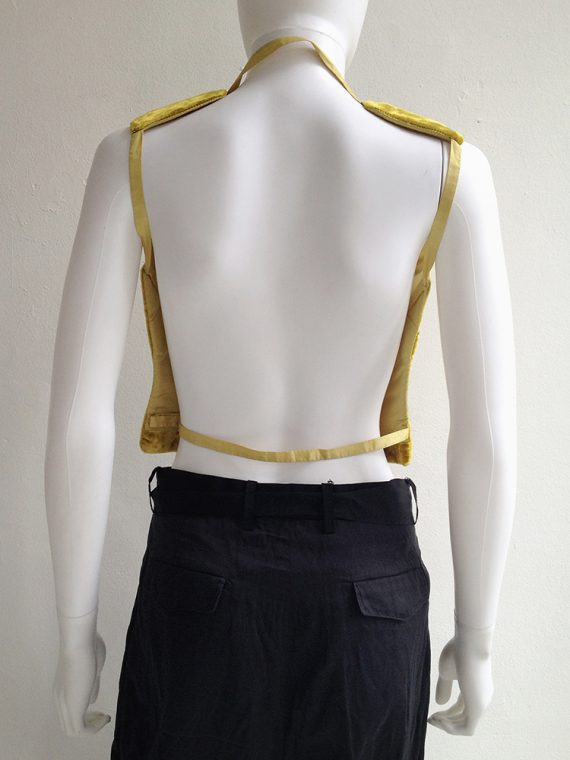 Maison Martin Margiela semi couture yellow velvet breastplate mannequin spring 1997 runway archive top3