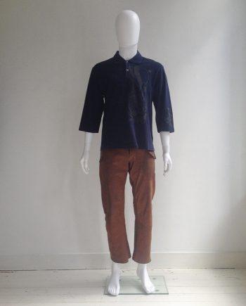 Comme des Garçons Homme Plus blue space print poloshirt — 2007