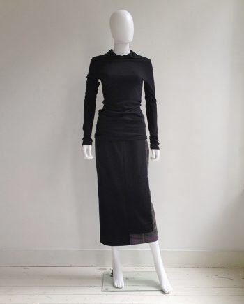 Yohji Yamamoto dark grey collar jumper