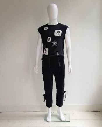 Bernhard Willhelm black cropped tirol trousers — spring 2007