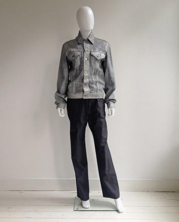 Maison Martin Margiela Artisanal Silver Painted Jeans