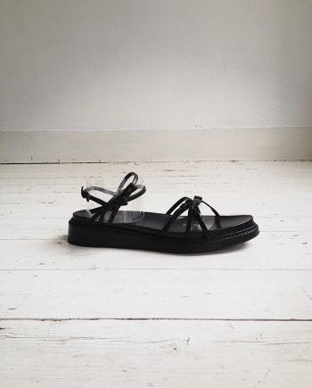 Ann Demeulemeester black flatform multi-strap sandals (40)