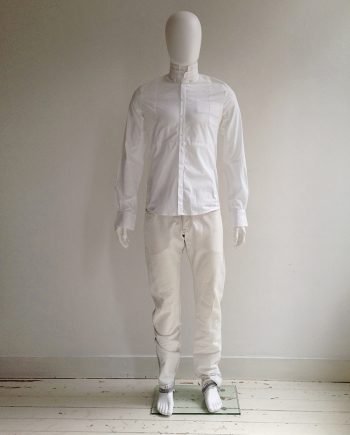 Bruno Pieters white shirt with deconstructed collar