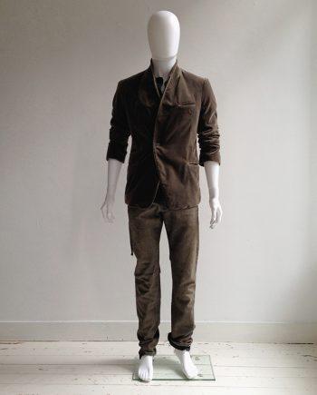 Haider Ackermann brown velvet blazer — fall 2014