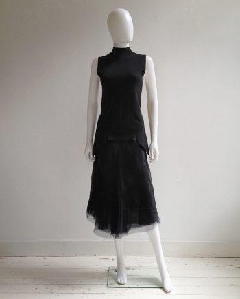 Rick Owens STRUTTER black tulle skirt