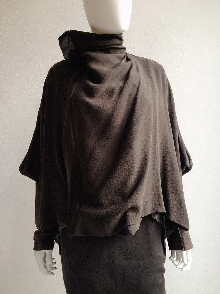 Rick Owens NASKA bubble coat with leather sleeves — spring 2012