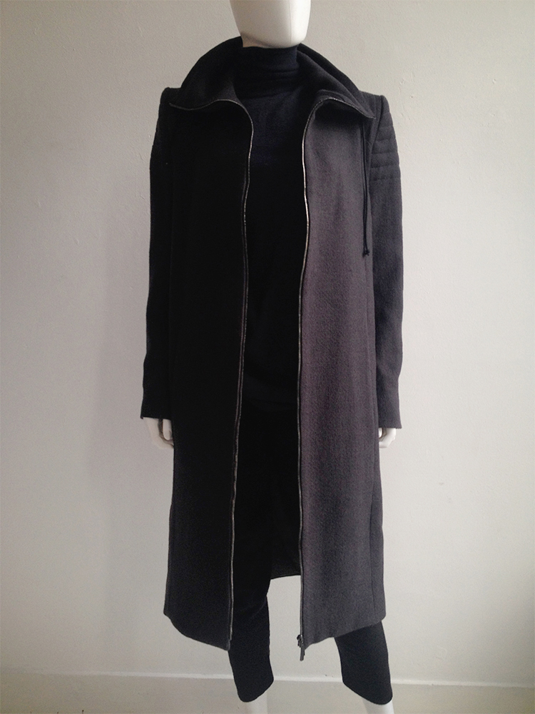 Haider Ackermann purple long coat — fall 2012 | V A N II T A S