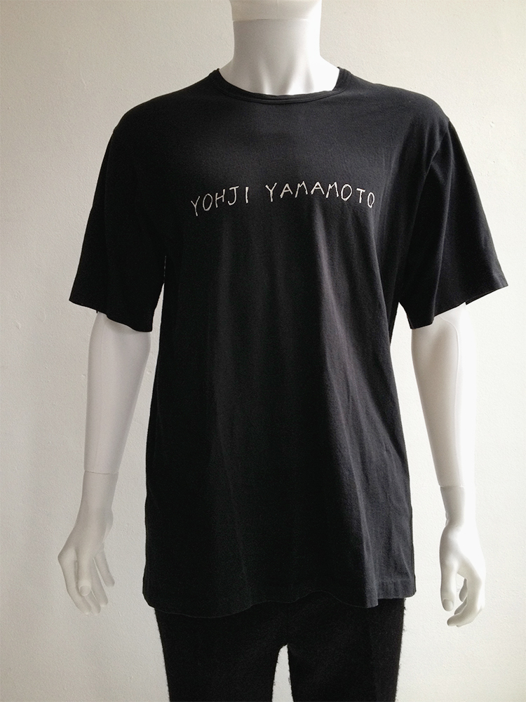 Yohji yamamoto brand name t shirt 80s v a n ii t a s for T shirt brand name list
