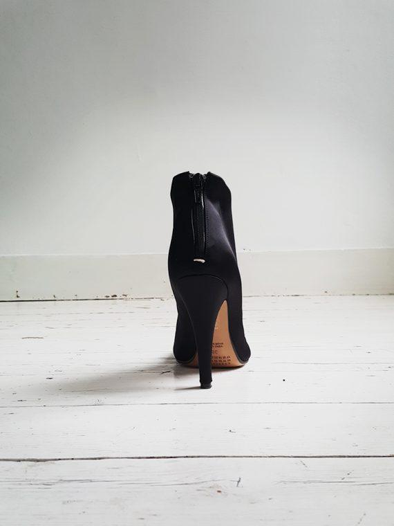 Maison Martin Margiela black satin tabi boots (38)