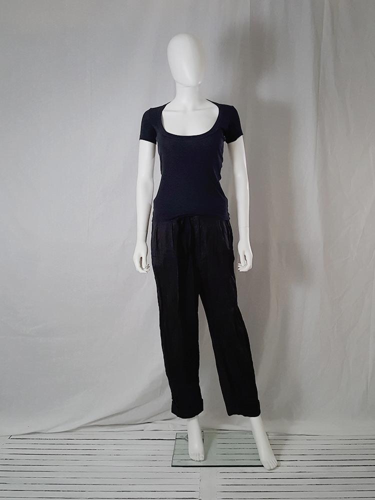 Maison Martin Margiela black flat t-shirt spring 1999 _130038