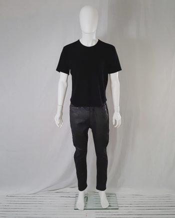 Yohji Yamamoto black simple knit t-shirt