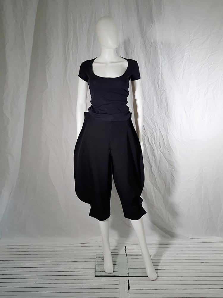 8ed073ec9ea1 Comme des Garcons black 2D paperdoll trousers AD fall 2012  162643