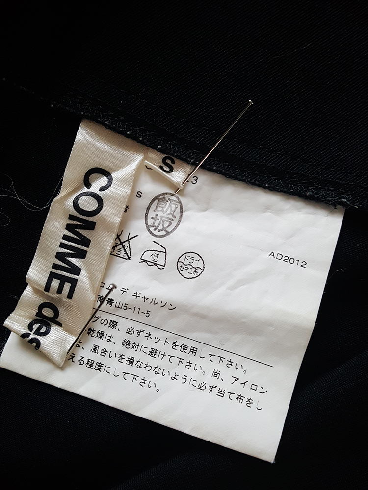 Comme des Garcons black 2D paperdoll trousers AD fall 2012 _202308