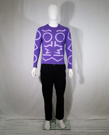 vintage Walter van Beirendonck purple supernatural longsleeve — spring 2005