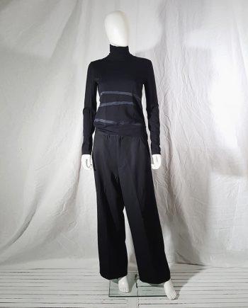 vintage Comme des Garcons dark blue wide trousers