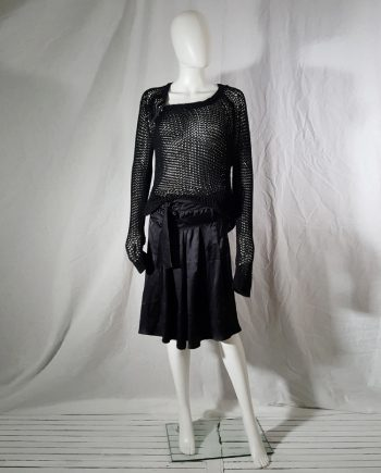 Ann Demeulemeester black skirt with front straps