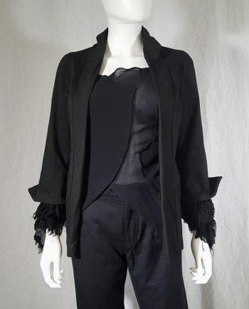 vintage Comme des Garçons dark blue blazer with ruffled sleeves — spring 2000