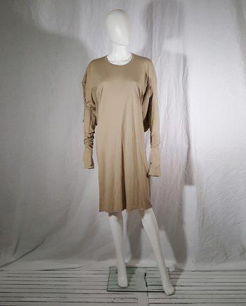 Barbara i Gongini beige square cut dress