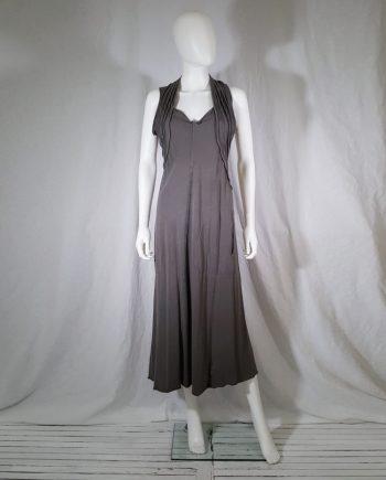 vintage Rick Owens DRKSHDW grey long dress with shoulder detail 144956