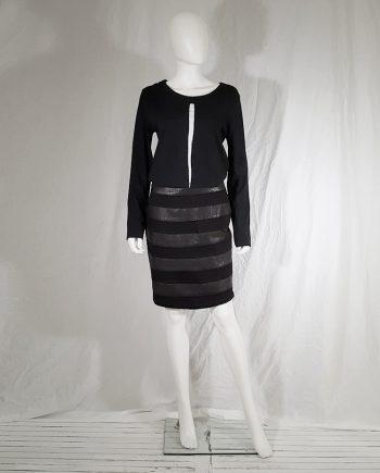 Ann Demeulemeester black longsleeve jumper with white stripe