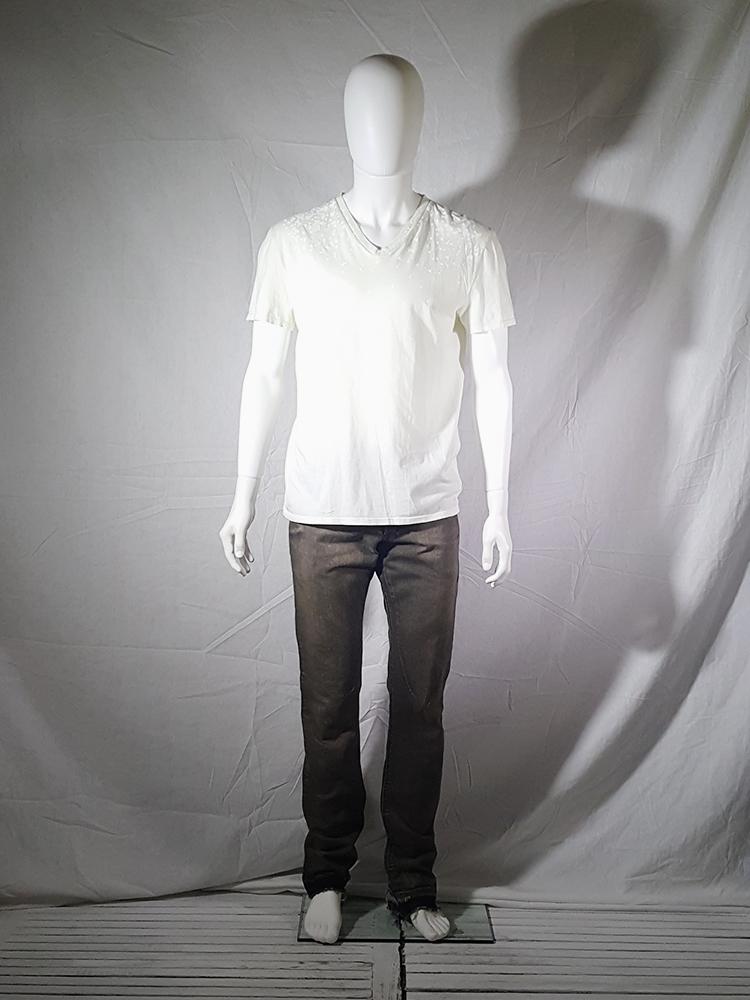 vintage Maison Martin Margiela white confetti print t-shirt spring 2009 140353