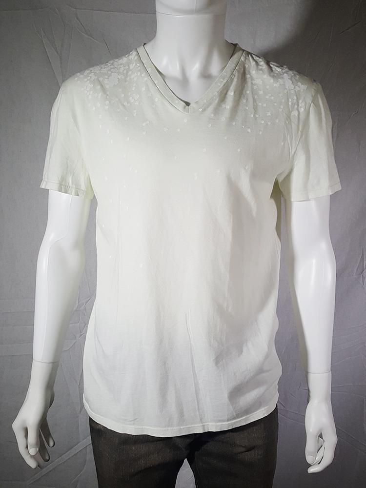 vintage Maison Martin Margiela white confetti print t-shirt spring 2009 140405