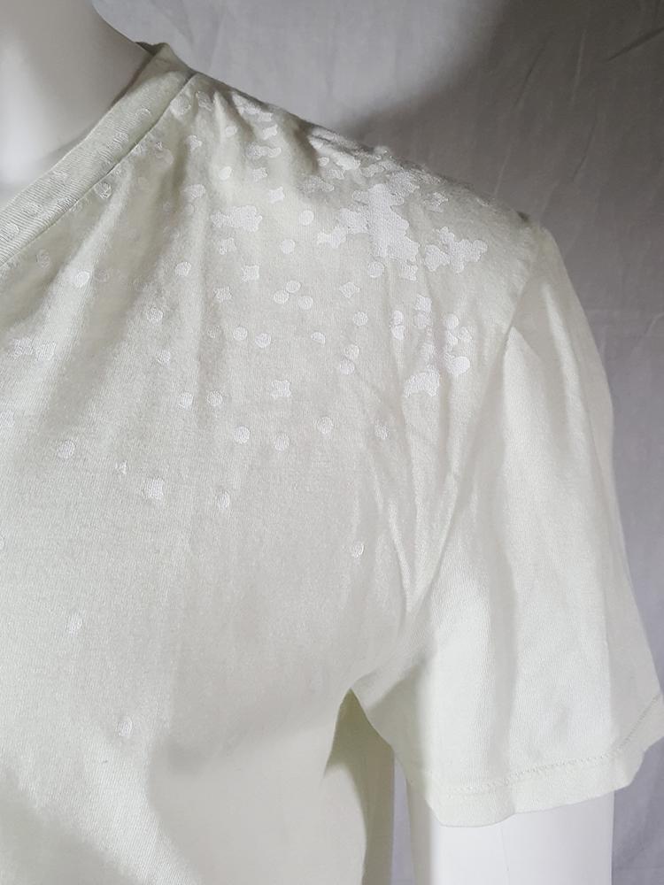 vintage Maison Martin Margiela white confetti print t-shirt spring 2009 140413