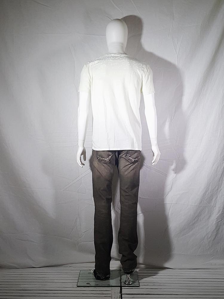 vintage Maison Martin Margiela white confetti print t-shirt spring 2009 140552