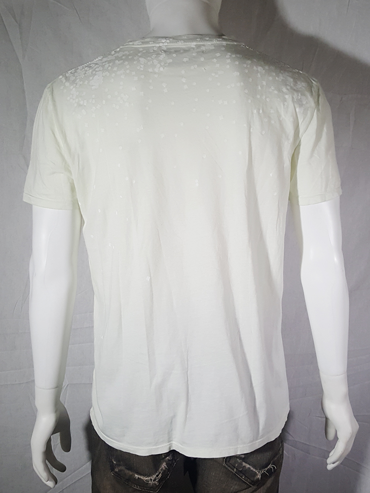 vintage Maison Martin Margiela white confetti print t-shirt spring 2009 140623