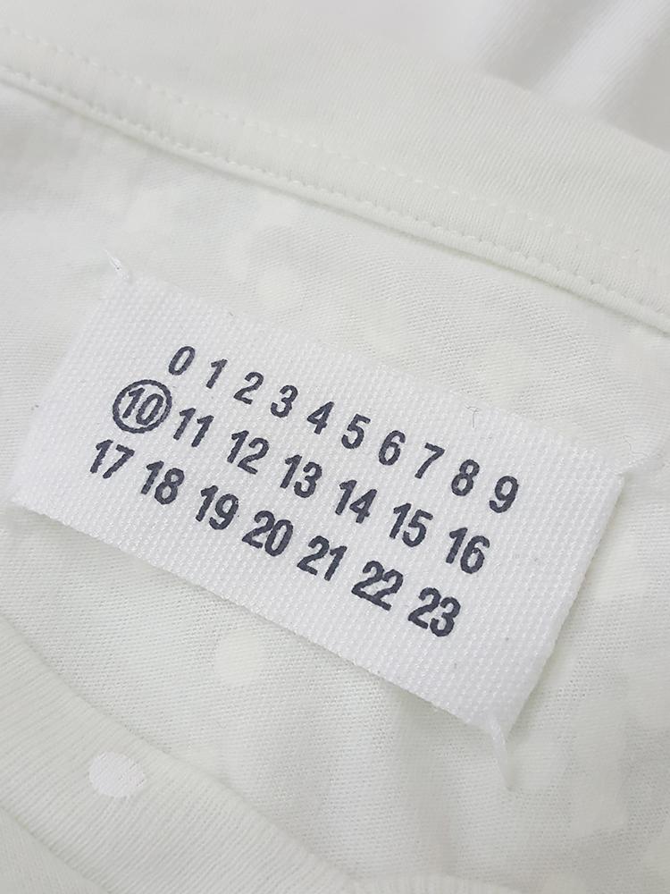 vintage Maison Martin Margiela white confetti print t-shirt spring 2009 181453