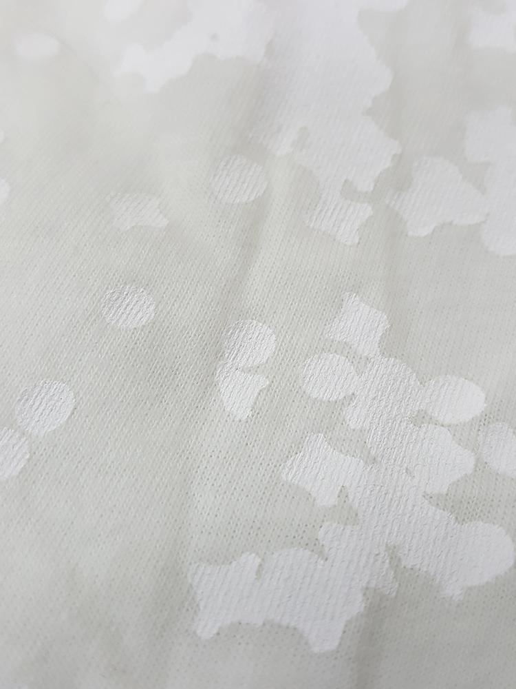 vintage Maison Martin Margiela white confetti print t-shirt spring 2009 181527