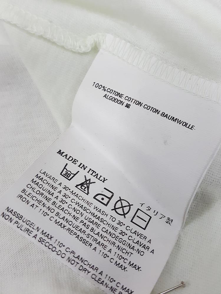vintage Maison Martin Margiela white confetti print t-shirt spring 2009 181617