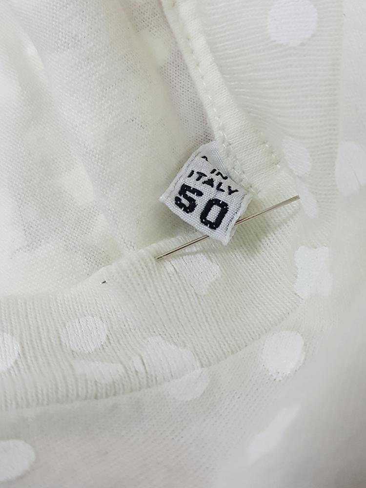 vintage Maison Martin Margiela white confetti print t-shirt spring 2009 181826