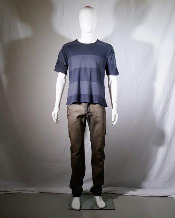 Comme des Garcons Homme blue striped t-shirt — AD1992