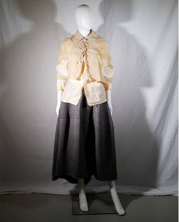 Comme des Garçons beige ghost cape with padded inserts — fall 2009