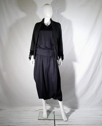 Comme des Garçons black harem trousers with double waist — spring 2002