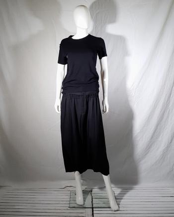 Maison Martin Margiela black top with displaced neckline — 90s