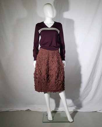 Issey Miyake brown origami skirt